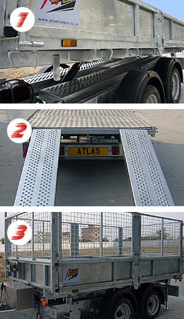 Our Tipping Trailer configured as a Box Trailer, a Flat Bed Trailer and a High Sided Trailer - a versatile tipping trailer